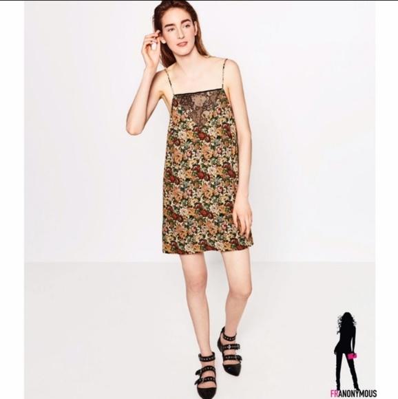 3ed6e44b5cf5 Zara Dresses | Floral Slip Dress S | Poshmark